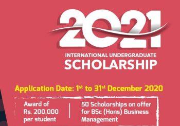 INTERNATIONAL SCHOLARSHIPS FOR UNDERGRADUATE STUDENTS